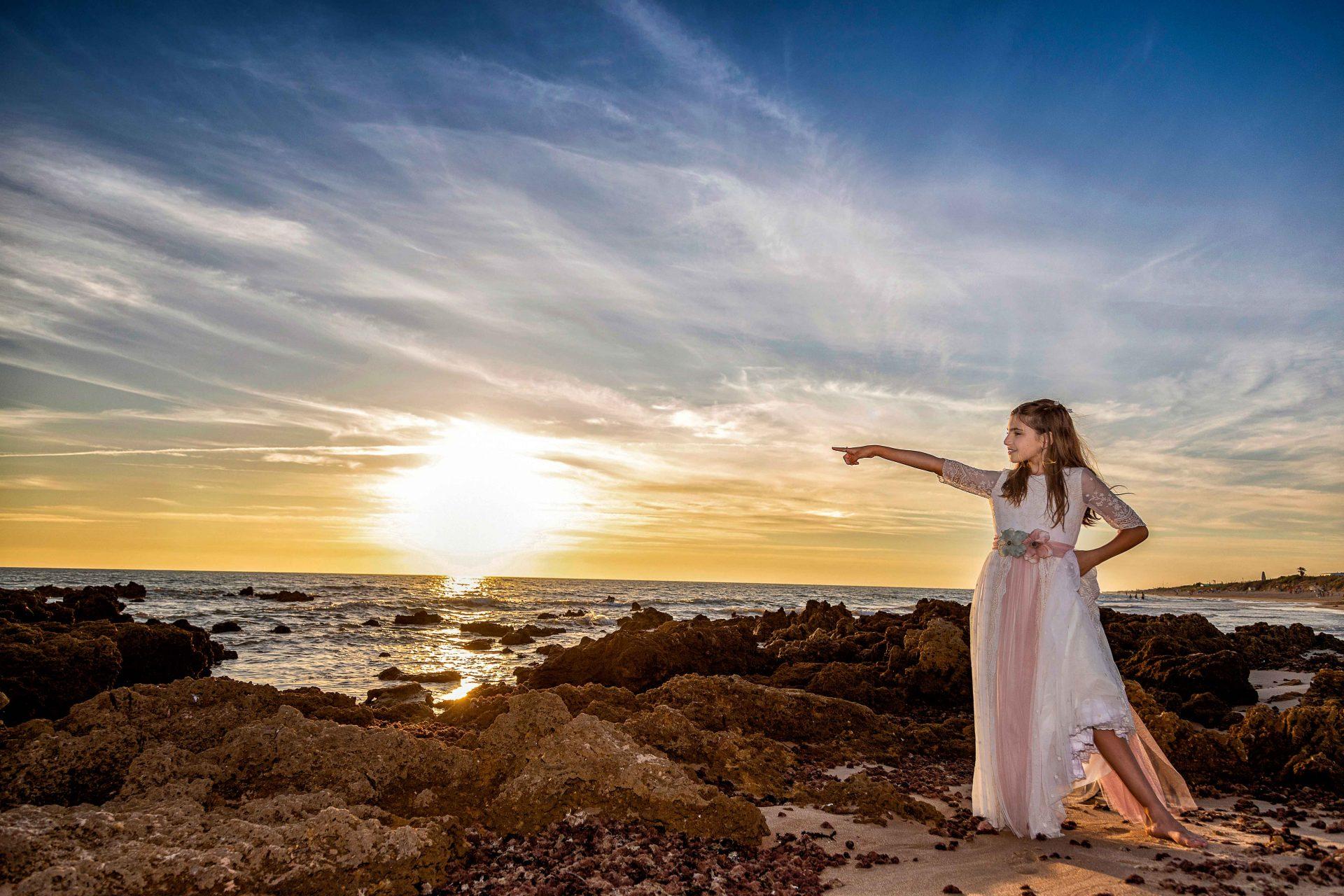 comunion en la playa